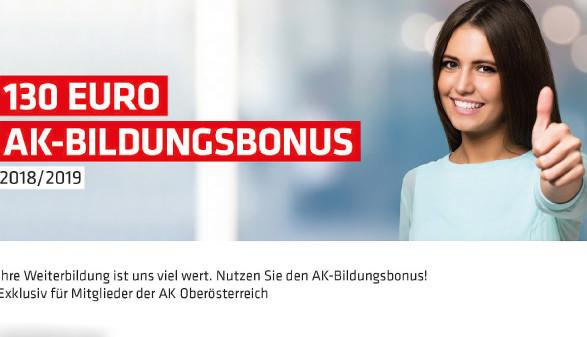AK Bildungsbonus © -, Arbeiterkammer Oberösterreich
