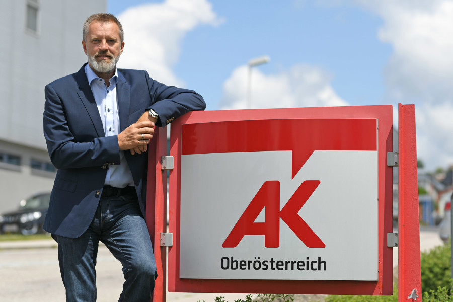 Bezirksstellenleiter Manfred Riepl © Wolfgang Spitzbart, Arbeiterkammer Oberösterreich