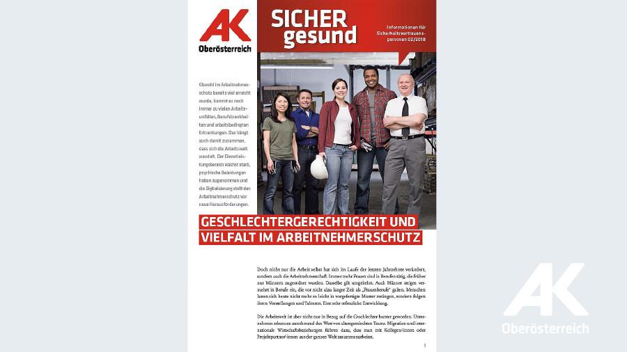 Wandzeitung Sicher Gesund 2018 - Nr. 2 © -, Arbeiterkammer Oberösterreich