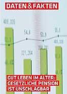 Gut leben im Alter: Gesetzliche Pension ist unschlagbar © -, AKOÖ