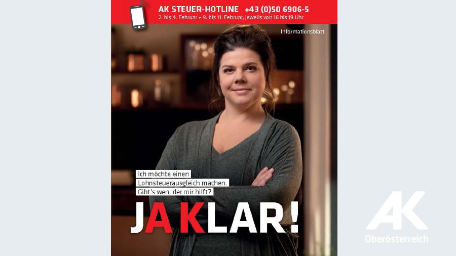 Broschüre: Ja Klar Steuerausgleich 2020 © -, Arbeiterkammer Oberösterreich
