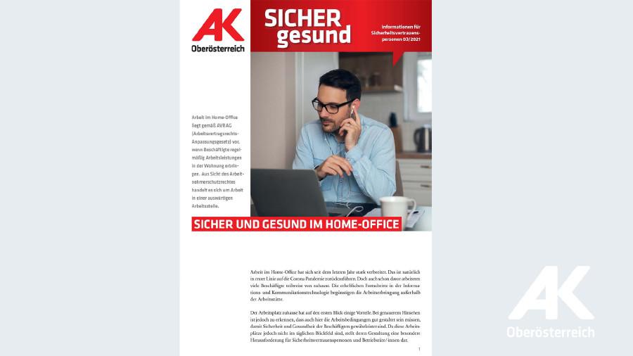 Wandzeitung Sicher gesund: Sicher und gesund im Home-Office © -, AK OÖ