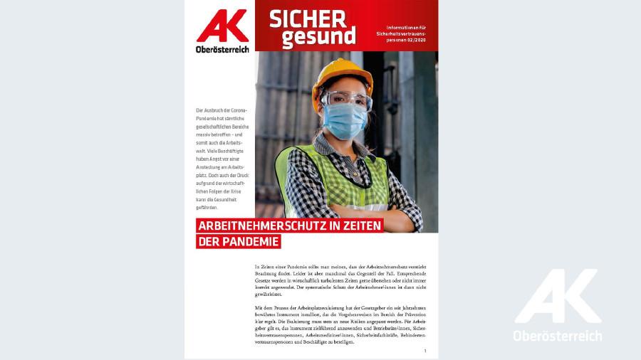 Wandzeitung Sicher gesund: Arbeitnehmerschutz in Zeiten der Pandemie © -, Arbeiterkammer Oberösterreich
