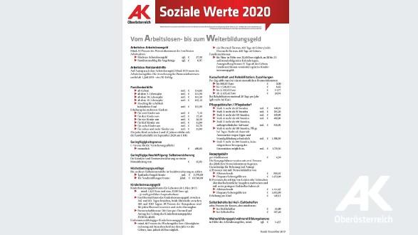 Informationsblatt: Soziale Werte 2019 © -, Arbeiterkammer Oberösterreich