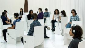 """Schüler/-innen der NMS Europaschule Linz absolvierten bei den """"Aktionstagen Berufsorientierung"""" in Steyr den Workshop """"14-was nun?"""" © -, Museum Arbeitswelt"""