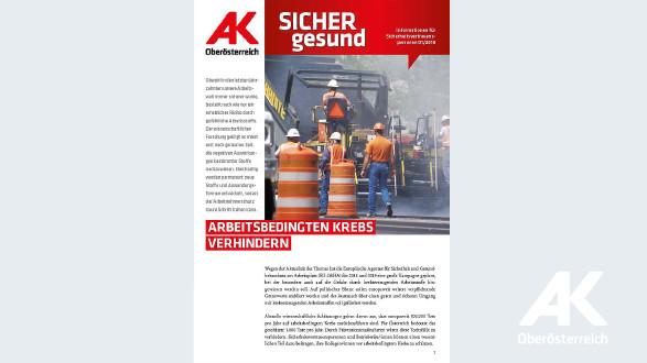 Wandzeitung Sicher Gesund 2018 - Nr. 1 © -, Arbeiterkammer Oberösterreich