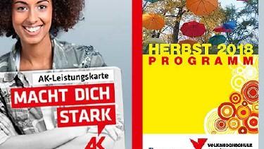 Leistungskarten-Ermäßigung bei VHS-Kursen © AK Oberösterreich, -