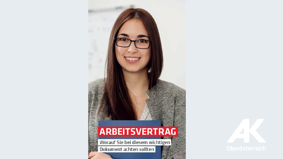 Broschüren-Cover Arbeitsvertrag © Arbeiterkammer Oberösterreich