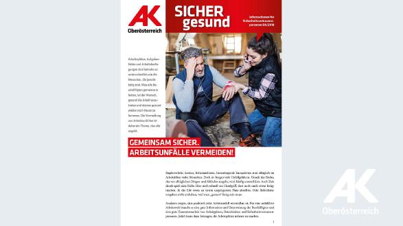 Wandzeitung Sicher Gesund 2018 - Nr. 4 © -, Arbeiterkammer Oberösterreich