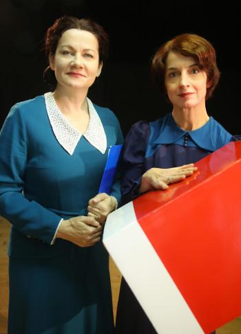 Anita Zieher und Brigitta Waschnig als Käthe Leichter und Marie Jahoda. © Barbara Palffy, -